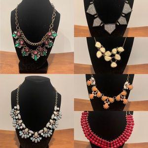 Bundle of 6 statement necklaces